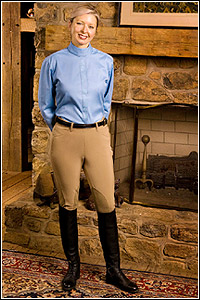 TuffRider Ladies Show Circuit Side Zip Breech (Regular)-$40 0FF SHOW SPECIAL