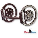 Classic Equine Clover Center Dee Ring Gist Bit
