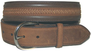 Nocona Belt With Center Lacing