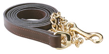 """1"""" Leather Brass Plate 30"""" Chain Lead"""
