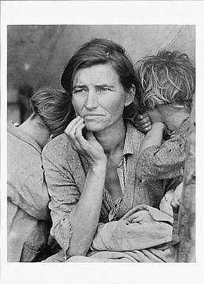 MIGRANT MOTHER, NIPOMA, CA, 1936