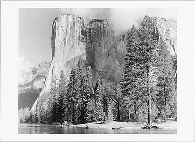 ANSEL ADAMS -EL CAPITAN, YOSEMITE NATIONAL PARK, CA, c 1949 - SMALL POSTCARD