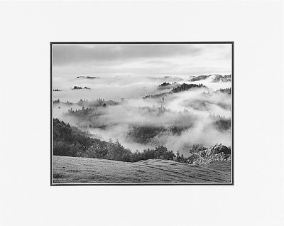 "ANSEL ADAMS - CLEARING STORM, SONOMA HILLS, CALIFORNIA Large Ansel Adams Matted Reproduction (16"" x 20"")"