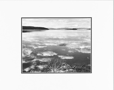"MONO LAKE, CALIFORNIA  Large Ansel Adams Matted Reproduction (16"" x 20"")"