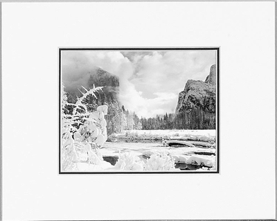 ANSEL ADAMS - GATES OF THE VALLEY, WINTER - SMALL MATTED REPRO