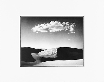 "ANSEL ADAMS - NIPOMO DUNES, OCEANA, CALIFORNIA  Large Ansel Adams Matted Reproduction (16"" x 20"")"