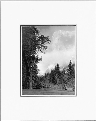 ANSEL ADAMS -EL CAPITAN, SUNRISE - SMALL MATTED REPRO