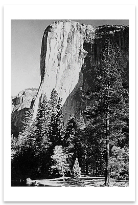 EL CAPITAN, YOSEMITE NATIONAL PARK, CA, 1956 - ANSEL ADAMS NOTECARD
