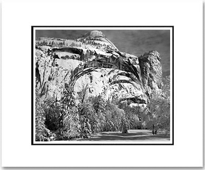 "NORTH DOME, ROYAL ARCHES, WASHINGTON COLUMN, YOSEMITE NAT'L PARK  Large Ansel Adams Matted Reproduction (16"" x 20"")"