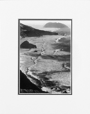 ANSEL ADAMS - POINT SUR, STORM - SMALL MATTED REPRO