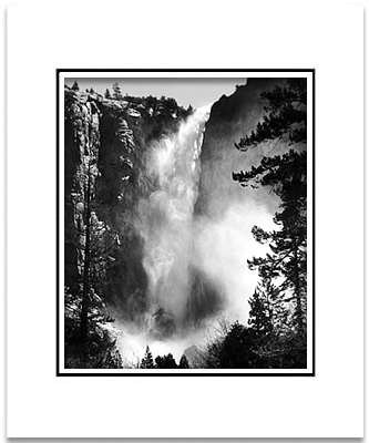 BRIDALVEIL FALL, YOSEMITE - SMALL MATTED REPRO