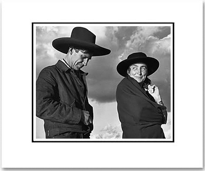 "GEORGIA OKEEFFE AND ORVILLE COX, CANYON DE CHELLEY NAT'L MONUMENT, AZ  Large Ansel Adams Matted Reproduction (16"" x 20"")"