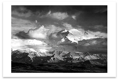 MOON AND MOUNT MCKINLEY, DENALI NATIONAL PARK, AK, 1947 (OUT OF STOCK)