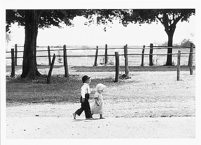 MENNONITE BROTHER & SISTER, LANCASTER COUNTY, PA, 1971