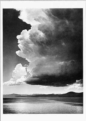 THUNDERCLOUD, LAKE TAHOE, CA, c 1936 - ANSEL ADAMS NOTECARD
