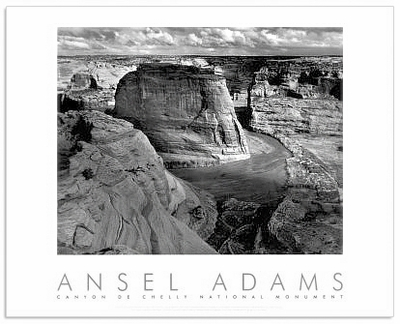 ANSEL ADAMS - CANYON DE CHELLY, ARIZONA - AUTHORIZED EDITION POSTER