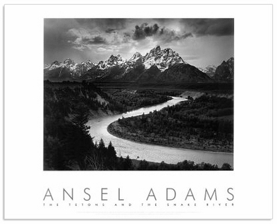 ANSEL ADAMS - THE TETONS & THE SNAKE RIVER - AUTHORIZED EDITION POSTER