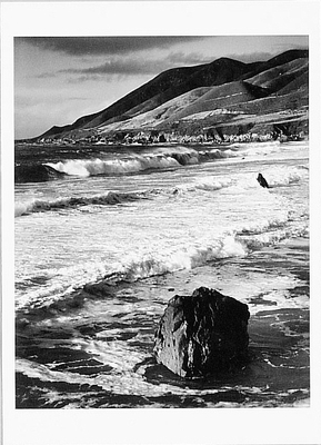 WINTER SURF, GARRAPATA, SUR COAST, CA, 1966