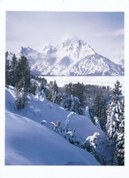 GRAND TETONS IN WINTER, GRAND TETON NATIONAL PARK, WY - HOLIDAY CARDS