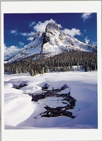LIBERTY BELL MOUNTAIN, FROM STATE CREEK MEADOWS, WA - HOLIDAY CARDS