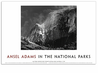 "<font color =""blue"">NEW!</font> ANSEL ADAMS IN THE NATIONAL PARKS : HALF DOME, BLOWING SNOW"