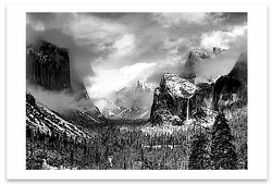 CLEARING WINTER STORM, YOSEMITE NATIONAL PARK, CA, c 1944