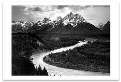 TETON RANGE & THE SNAKE RIVER, GRAND TETON NATIONAL PARK, WY, c 1942