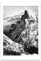 HALF DOME, WINTER, FROM GLACIER POINT, YOSEMITE NATIONAL PARK, CA, c 1930 - ANSEL ADAMS LARGE POSTCARD