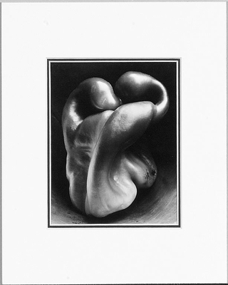 EDWARD WESTON - PEPPER, 1930 - SMALL MATTED REPRODUCTION