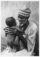 ABASHE WITH HIS GRANDSON, NIGERIA, 1981