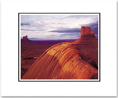 ANSEL ADAMS - LATE EVENING, MONUMENT VALLEY - SMALL MATTED REPRO