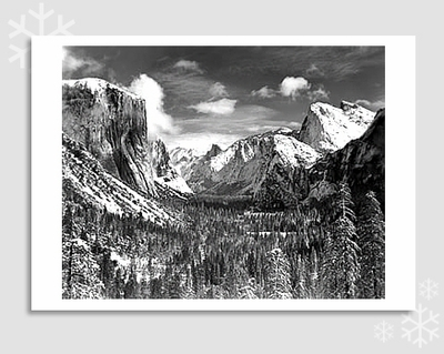 "YOSEMITE VALLEY - ANSEL ADAMS HOLIDAY CARD ""SEASON'S GREETINGS"""