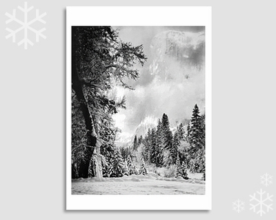 "EL CAPITAN, SUNRISE - ANSEL ADAMS HOLIDAY CARD ""SEASON'S GREETINGS"""