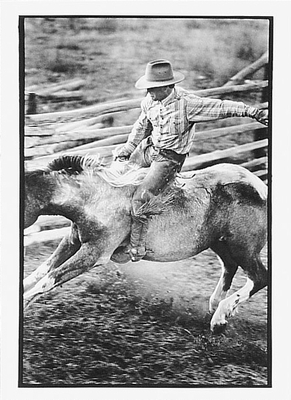 PATRICK CUDAHY - RIDING ONE UP ON MEDICINE BOW RANCH - NOTECARD