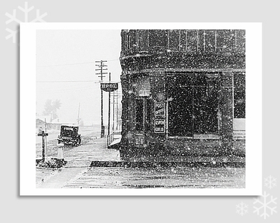 "POST OFFICE, ASPEN, CO, 1941 - MARION POST WOLCOTT HOLIDAY CARD ""SEASON'S GREETINGS"""