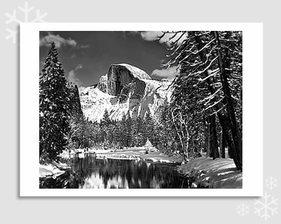 "HALF DOME, MERCED RIVER - ANSEL ADAMS HOLIDAY CARD ""SEASON'S GREETINGS"" (OUT OF STOCK)"