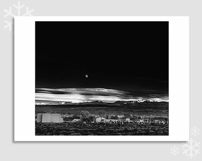 "MOONRISE, HERNANDEZ  - ANSEL ADAMS HOLIDAY CARD ""SEASON'S GREETINGS"""