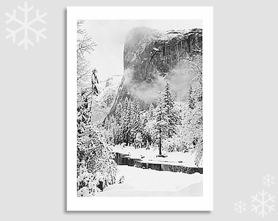 "EL CAPITAN, WINTER -ANSEL ADAMS HOLIDAY CARD ""SEASON'S GREETINGS"""
