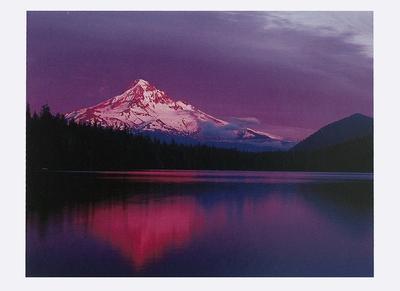 ALAN MAJCHROWICZ - AFTERGLOW ON MOUNT HOOD, LOST LAKE, OR - HOLIDAY CARD