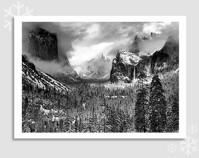 "CLEARING WINTER STORM - ANSEL ADAMS HOLIDAY CARD ""SEASON'S GREETINGS"""