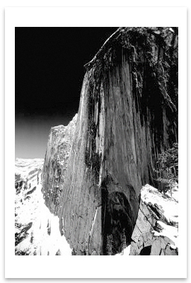 ANSEL ADAMS - MONOLITH, THE FACE OF HALF DOME, YOSEMITE NATIONAL PARK, CA, c 1927 -  SMALL POSTCARD
