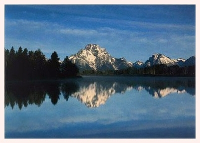 THE TETON RANGE FROM THE OXBOW OF THE SNAKE RIVER, GRAND TETON NATIONAL PARK, WY - HOLIDAY CARDS