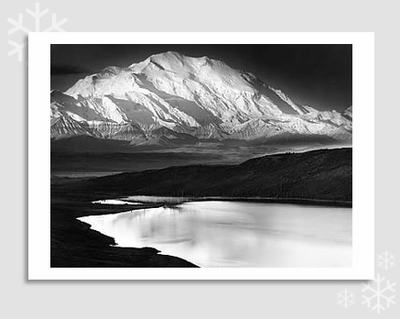 MOUNT MCKINLEY & WONDER LAKE - HOLIDAY CARDS