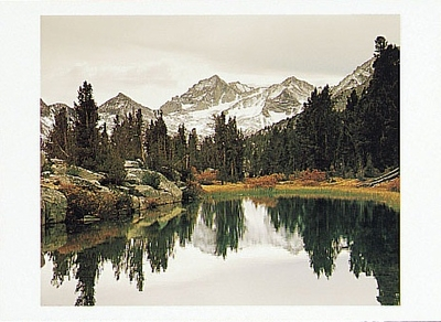 JIM STIMSON - GLACIAL TARN, BEAR CREEK SPIRE, ROCK CREEK, CA - HOLIDAY CARD