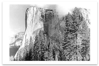 EL CAPITAN, YOSEMITE NATIONAL PARK, CA, 1949 - ANSEL ADAMS NOTECARD
