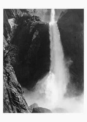 ANSEL ADAMS: LOWER YOSEMITE FALL, YOSEMITE VALLEY, CA, 1946, SMALL POSTCARD