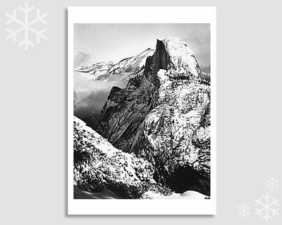 "HALF DOME, WINTER - ANSEL ADAMS HOLIDAY CARD ""SEASON'S GREETINGS"" (OUT OF STOCK)"