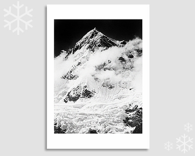 "ANNAPURNA III, HIMALAYAS, NEPAL - KARL HERRMANN HOLIDAY CARD ""SEASON'S GREETINGS"""