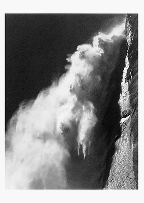 ANSEL ADAMS -UPPER YOSEMITE FALL, YOSEMITE VALLEY, 1946 - SMALL POSTCARD