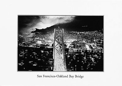 SAN FRANCISCO-OAKLAND BAY BRIDGE - SMALL POSTCARD